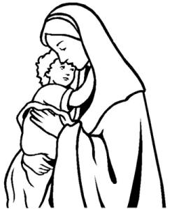 Virgen Maria para pintar 1
